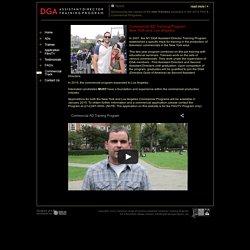 DGA - Assistant Director Training Program