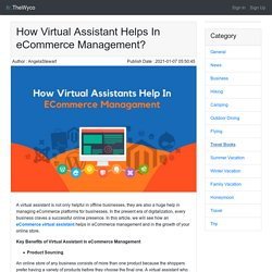 How Virtual Assistant Helps In eCommerce Management?