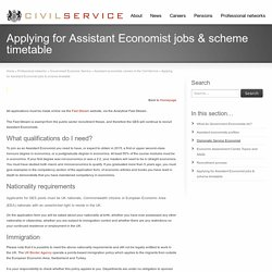 Applying for Assistant Economist jobs & scheme timetable - Civil Service