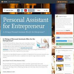 Personal Assistant for Entrepreneur