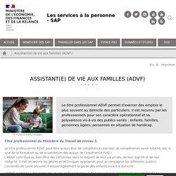 Assistant(e) de vie aux familles (ADVF)