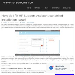 Fix HP Support Assistant cancelled installation issue