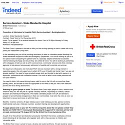 Service Assistant - Stoke Mandeville Hospital job - British Red Cross