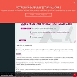 Stage assistant marketing fidélité, H/F