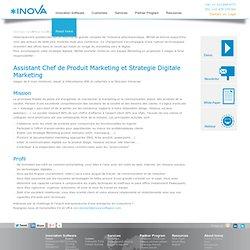 Assistant chef de produit marketing et strategie digitale marketing