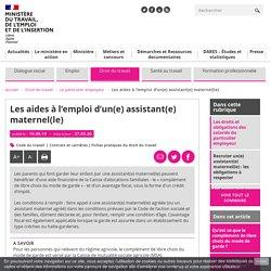 Assistant.e maternel.le : complément de libre choix et crédit d'impôt