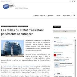 Les failles du statut d'assistant parlementaire européen