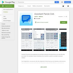 Assistant Parole AAC – Applications sur GooglePlay