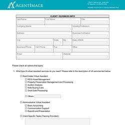 Virtual Assistant Questionnaire