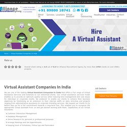 Virtual Assistant Companies in India – Alliance Recruitment Agency
