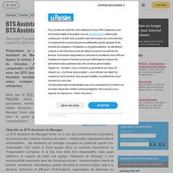 BTS Assistant de Manager (remplace le BTS Assistant de Direction) - BTS