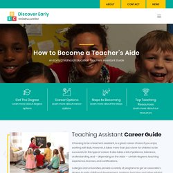 Teaching Assistant - Requirements, Careers, Salary and Job Duties