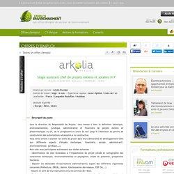 Stage assistant chef de projets éoliens et solaires H/F Arkolia Energies - Offre d'emploi Éolien, Solaire