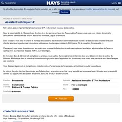 Assistant technique H/F - Hays - Recruiting Experts Worldwide