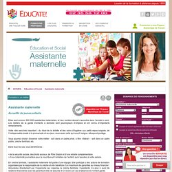 Formation assistante maternelle - Garde d'enfants - Creche, formation assistance maternelle Educatel