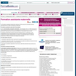 Formation assistante maternelle - Formaguide.com