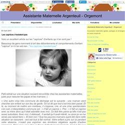 Les caprices n'existent pas - Assistante Maternelle Argenteuil - Orgemont