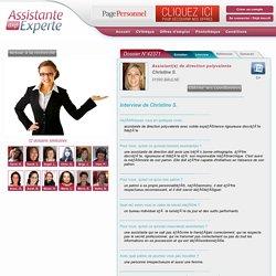 Interview CV Assistante de direction polyvalente, Christine réf:42371