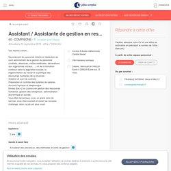 Offre d'emploi Assistant / Assistante de gestion en ressources humaines (H/F) - 60 - COMPIEGNE