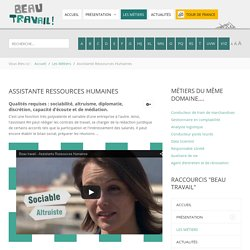 Assistante Ressources Humaines