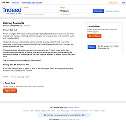 Catering Assistants job - Woburn Enterprises Ltd - Woburn