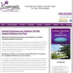 Assisted Living homes near Goldsboro, NC Offer Complete Alzheimer Care Plans