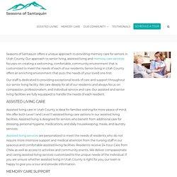 Look for Memory Care Services in Salem Utah