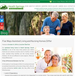 Five Ways Assisted Living and Nursing Homes Differ