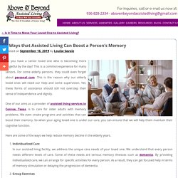 5 Ways that Assisted Living Can Boost a Person's Memory