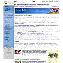 Assisted Living Registrar - About Assisted Living