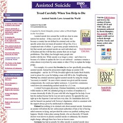 Assisted Suicide Laws Around the World - Assisted Suicide