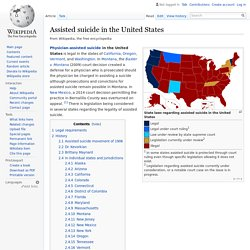 Assisted suicide in the United States