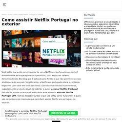 Como assistir Netflix Portugal no exterior?