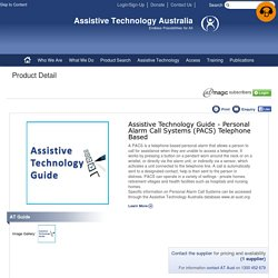 Assistive Technology Guide - Personal Alarm Call Systems (PACS) Telephone Based