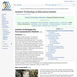 Assistive Technology in Education/Autistic