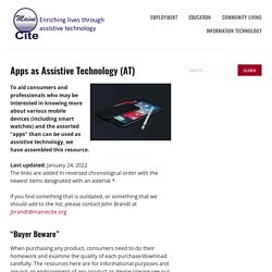 Apps as Assistive Technology (AT) – Maine CITE