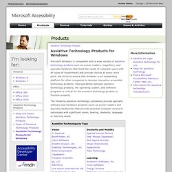 Assistive Technology Products for Windows