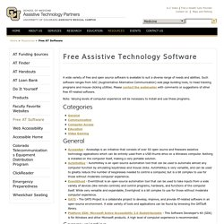 Free Assistive Technology Software