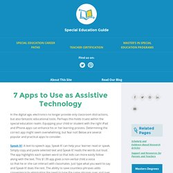 Assistive Technology - Top Apps for Students with Special Needs