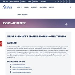 Online Associate's Degree Programs at Stratford University