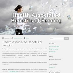 Health Associated Benefits of Fencing