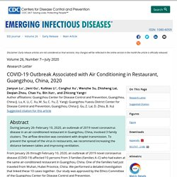 CDC EID - JULY 2020 - COVID-19 Outbreak Associated with Air Conditioning in Restaurant, Guangzhou, China, 2020
