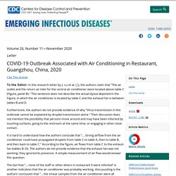 CDC EID - NOV 2020 - COVID-19 Outbreak Associated with Air Conditioning in Restaurant, Guangzhou, China, 2020