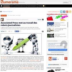 Associated Press met au travail des robots journalistes
