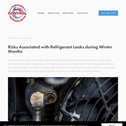 Risks Associated with Refrigerant Leaks during Winter Months