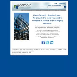Camoin Associates: Economic and Community Development
