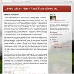 James William Henry Hopp, Specializing in Tax Help for His Community