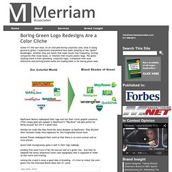 Boring Green Logo Redesigns Are a Color Cliche « Merriam Associates, Inc. Brand Strategies