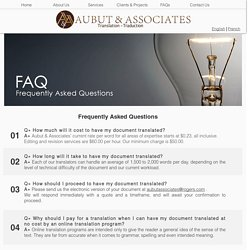 Frequently Asked Questions-Aubut & Associates