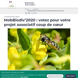 MobBiodiv'2020 : votez pour votre projet associatif coup de cœur